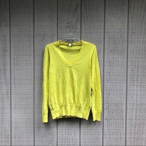 J. Crew chartreuse tennis ball yellow sweater, M